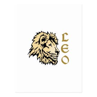 LION LEO ZODIAC POSTCARD