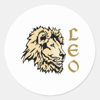 LION LEO ZODIAC ROUND STICKER