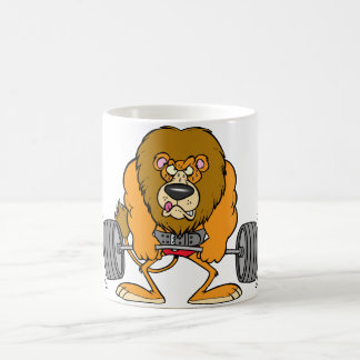 Lion Lifing Weights Mug