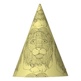 Lion Line Art Design Party Hat