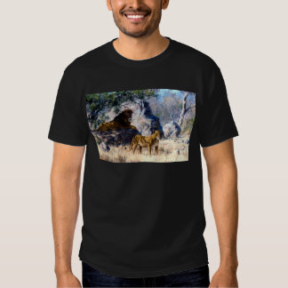 Lion Lioness Nature Painting Shirts