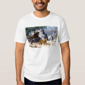 Lion Lioness Nature Painting Tee Shirt