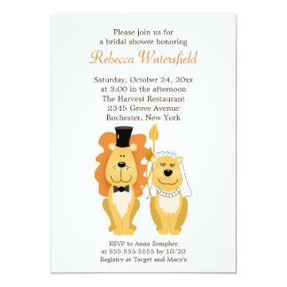 "Lion & Lionness 5x7 Bridal Shower Invitation 5"" X 7"" Invitation Card"
