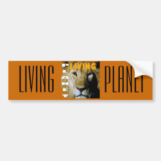 Lion Living planet eco-friendly Bumper Stickers