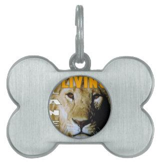 Lion Living planet eco-friendly Pet ID Tag
