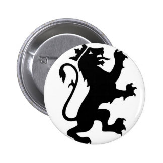 Lion logo 6 cm round badge