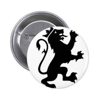 Lion logo 6 cm round badge