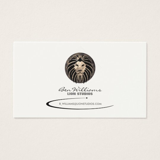 Lion Logo Business Card (Moon Backdrop)