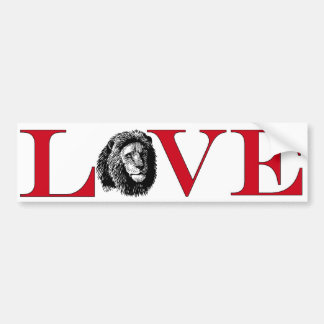 Lion Lover Bumpersticker Bumper Sticker