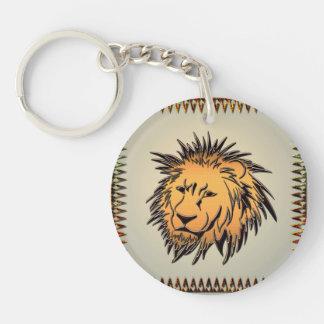 Lion made of rusty metal Single-Sided round acrylic keychain