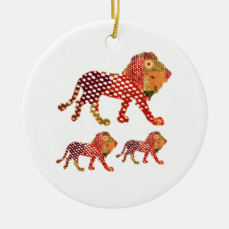 LION -  Majestic KING of animals Christmas Ornament
