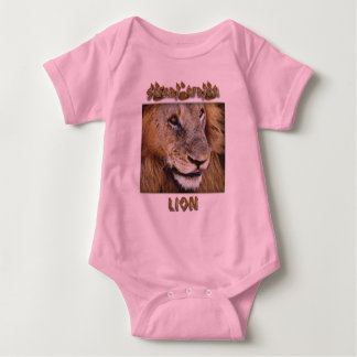 Lion male - wildlife safari infant clothing baby bodysuit
