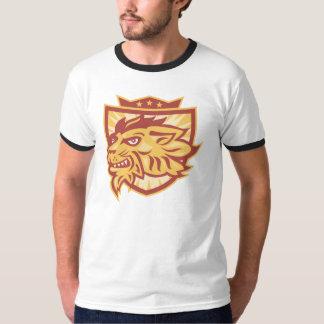 Lion Mascot Head Shield T-Shirt