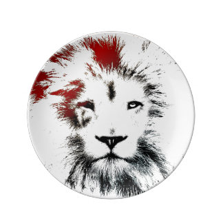 Lion Minimal Design Decorative Plate