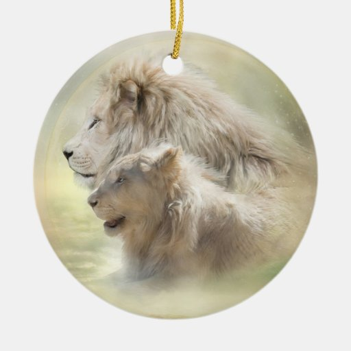 Lion Moon Holiday Ornament
