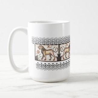 Lion - Mosaic Basic White Mug