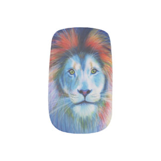 lion nails minx nail art