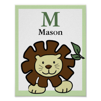 LION NAME PRINT Baby Zoo Animals