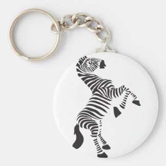 Lion Neon Basic Round Button Key Ring