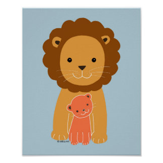 Lion Nursery Poster Lion Dad Baby Nursery Wall art