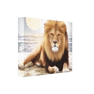 Lion Ocean Photo Paint Gallery Wrap Canvas