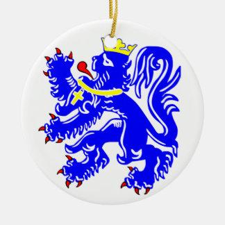 Lion of Bruges Round Ceramic Decoration