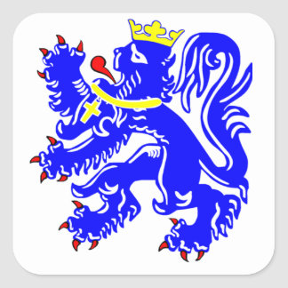 Lion of Bruges Square Sticker