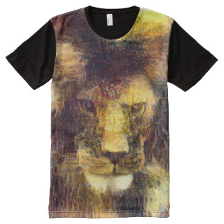 Lion of God Impressionist Oil Painting Graphic Tee All-Over Print T-Shirt