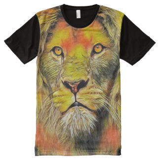 Lion of God Jesus Acrylic Portrait Painting All-Over Print T-Shirt