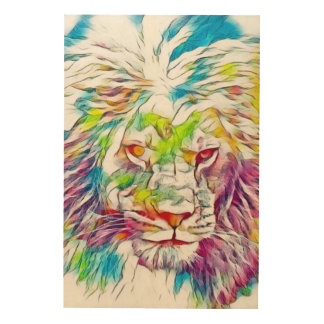 Lion of God Watercolor Pencil Art