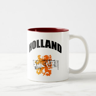 Lion of Holland Soccer Gifts Two-Tone Coffee Mug