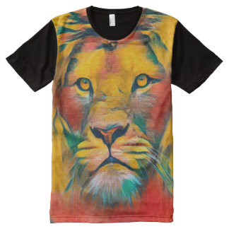 Lion of Judah Acrylic Painting All-Over Print T-Shirt