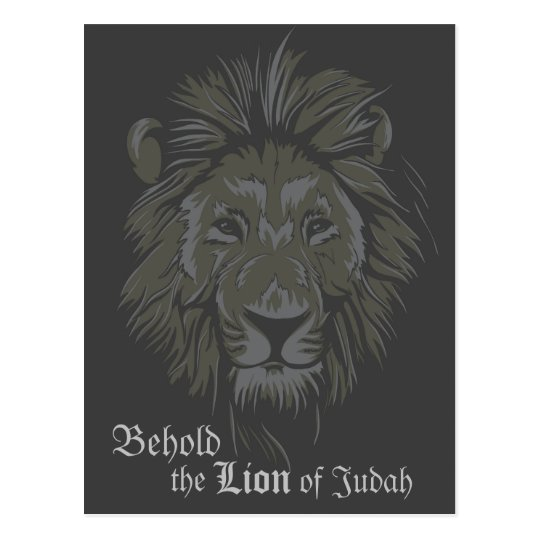 Lion of Judah Bible Verse Revelation 5:5 Postcard