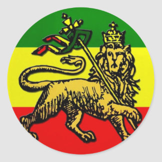 Lion of Judah Classic Round Sticker
