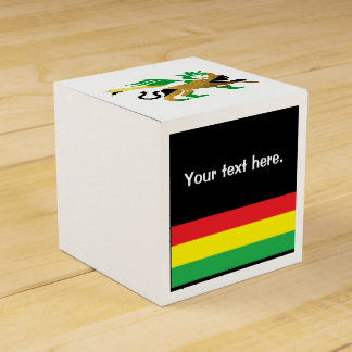 Lion of Judah, Jamaican flag colours Wedding Favour Box
