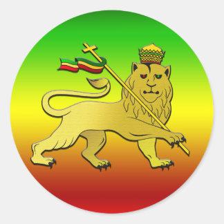 Lion of Judah Lion Reggae Round Sticker