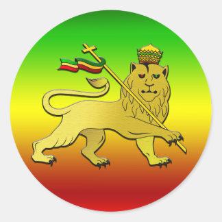 Lion Of Judah - Rasta Reggae Lion Round Sticker