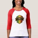 Lion of Judah Rasta Shield T Shirt
