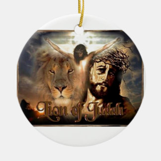 Lion of Judah Round Ceramic Decoration
