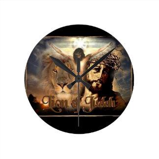 Lion of Judah Round Clock