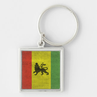 Lion of Judah Silver-Colored Square Key Ring