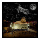 Lion Of Judah Western Wall Poster