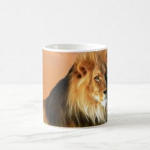 Lion of South Africa fractal art Coffee Mug