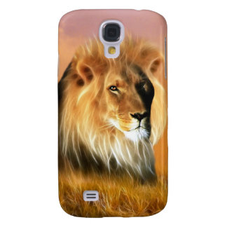Lion of South Africa fractal art Galaxy S4 Case