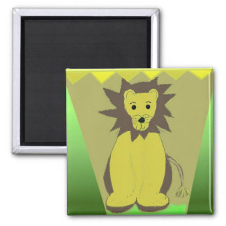 Lion of the Jungle Square Magnet