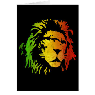 Lion of Zion Judah Reggae Lion Card