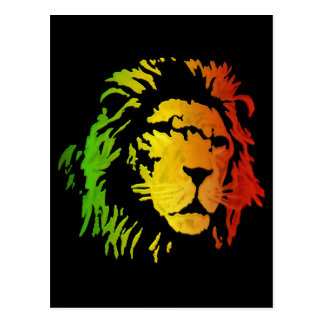 Lion of Zion Judah Reggae Lion Postcard