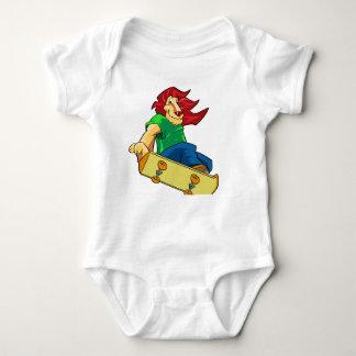 Lion on a board baby bodysuit