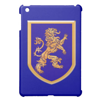 Lion on Blue Shield Cover For The iPad Mini