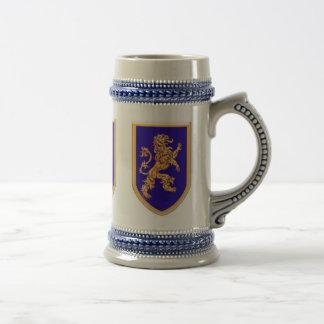 Lion on Blue Shield Coffee Mug
